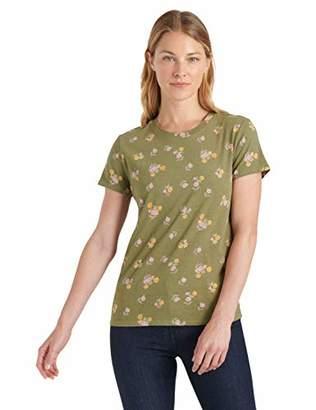 Lucky Brand Women's Short Sleeve Scoop Neck Allover Printed Tee