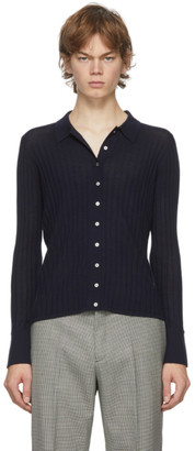 Dion Lee Navy Wool Shirt
