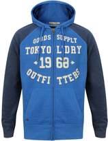 Tokyo Laundry Mens Arapaho Forest Hoody Jumper Mood Indigo Blue - Small