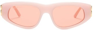 Balenciaga Oval Acetate Sunglasses - Light Pink