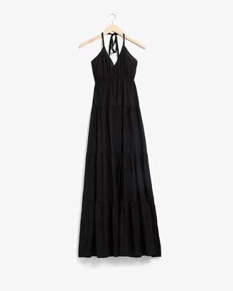 Express Tiered Halter Maxi Dress