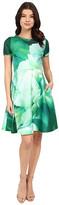 Christin Michaels Lille Floral Scuba Dress
