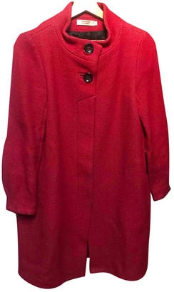 Comptoir des Cotonniers Red Wool Coats