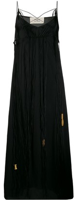 Ports 1961 fringed sleeveless maxi dress