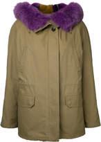 Army Yves Salomon oversized collar coat