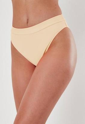 Missguided Petite Pink Mix And Match High Waisted High Leg Bikini Bottoms