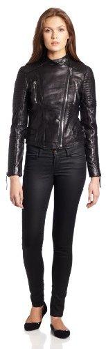 BCBGeneration Women's Lyla Leather Moto Jacket