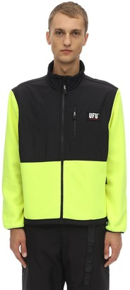 Ufu   Used Future Guard Logo Color Block Zip Jacket