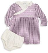 Ralph Lauren Baby's Two-Piece Ruffle Striped Dress & Bloomers Set