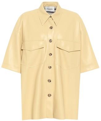 Nanushka Roque faux leather shirt