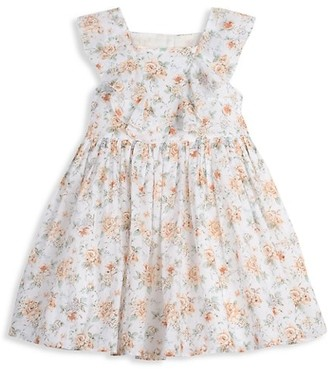 Laura Ashley Little Girl's Floral Clip Dot Dress