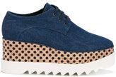 Stella McCartney denim Elyse flatform shoes - women - Cotton/Artificial Leather/rubber - 35
