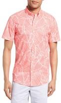 Bonobos Men's Slim Fit Palm Frond Print Short Sleeve Sport Shirt