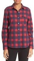 ATM Anthony Thomas Melillo Women's Plaid Flannel Shirt
