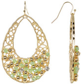 Natasha Accessories Filigree Bead Detail Open Drop Earrings