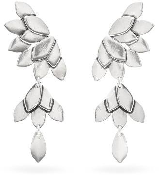 Isabel Marant Joao Leaf Drop Earrings - Silver