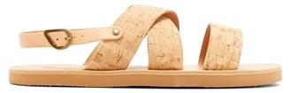 Ancient Greek Sandals Miltos Crossover Cork Sandals - Beige