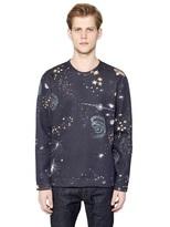 Valentino Cosmo Printed Neoprene Sweatshirt