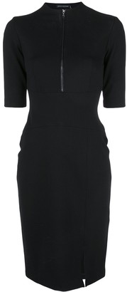 Josie Natori Compact High Neck Dress