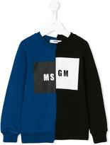 MSGM logo asymmetric print sweatshirt - kids - Cotton - 12 yrs