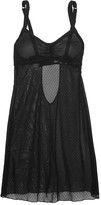 Cosabella Erin Babydoll Swiss-dot stretch-tulle chemise