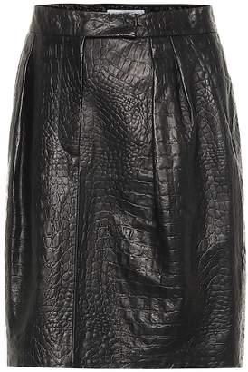 Max Mara Manila embossed leather skirt