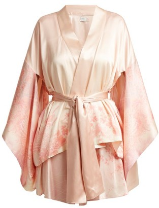 Hillier Bartley Floral-print Silk Kimono-style Jacket - Pink Print