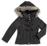 London Fog Girls 7-16 Faux Fur Accented Toggle Coat