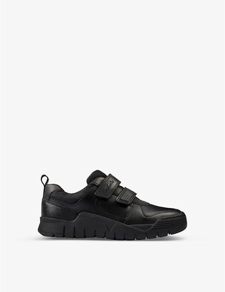 Clarks Scooter Speed leather trainers 5-8 years