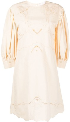 See by Chloe Embroidered Details Shift Dress
