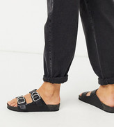 Black Footbed Sandals | Shop the world