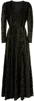 Eva Gold Striped Long Dress