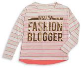 Soprano Girls 7-16 Fashion Blogger Striped Tee