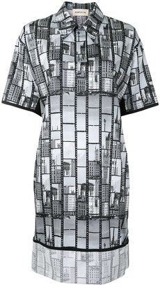 PortsPURE Building Print Shirt Dress