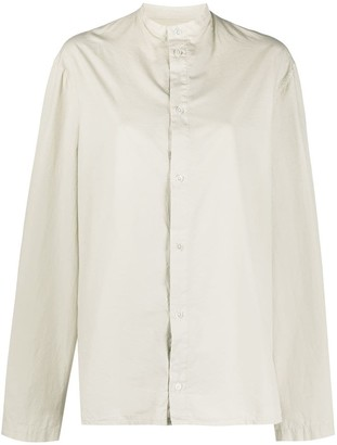 Lemaire Stand-Up Collar Cotton Shirt