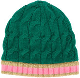 Gucci cable knit beanie hat - women - Cashmere/Wool - S