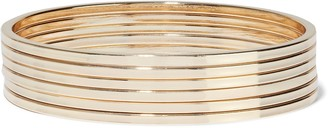 Kenneth Jay Lane Set Of Six Gold-plated Bangles