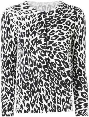 Oscar de la Renta leopard print cardigan
