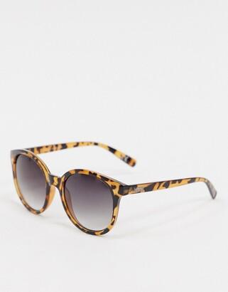 Vans Rise And Shine sunglasses in brown/gradient smoke lens