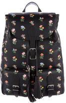 Saint Laurent Leather Prairie Flower Festival Backpack