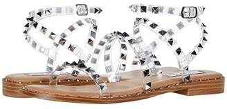 Steve Madden Travel Flat Sandal (Clear) Women's Shoes