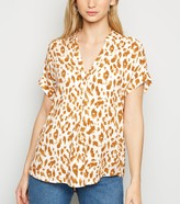 Thumbnail for your product : New Look Leopard Print Short Sleeve Shirt