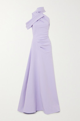 Maticevski Inclination Asymmetric Gathered Cady Gown - Lilac