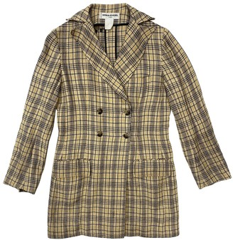 Sonia Rykiel Beige Wool Coat for Women Vintage