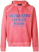 DSQUARED2 Boy Scout printed hoodie