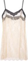 Jenny Packham Swarovski crystal-embellished French lace chemise