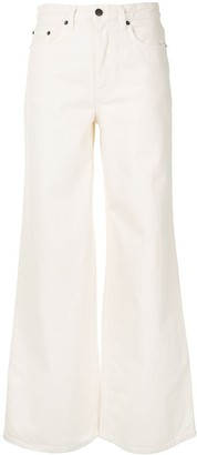 The Row Issa high-rise wide-leg jeans