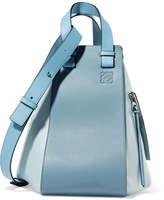 Loewe Hammock Color-block Textured-leather Shoulder Bag - Blue