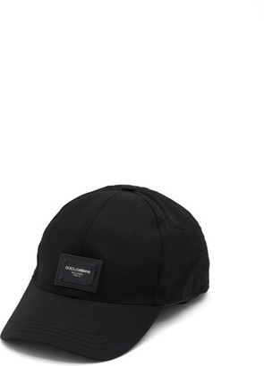 Dolce & Gabbana Logo-patch Baseball Cap - Mens - Black