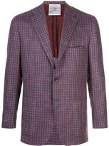 Kiton single-breasted gingham check blazer